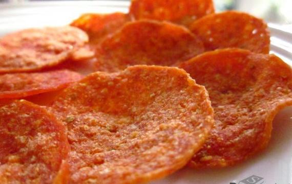 Chips de pepperoni