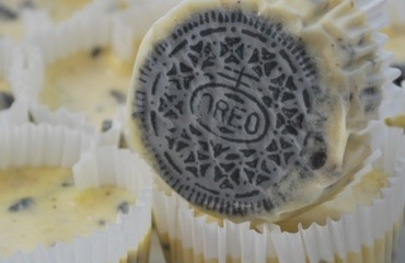 Mini cheesecake de galletitas oreo