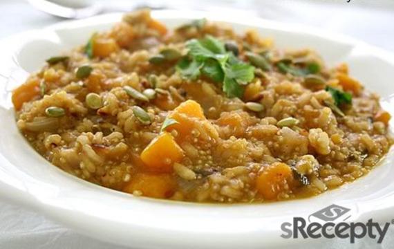 Risotto de calabaza y quinoa