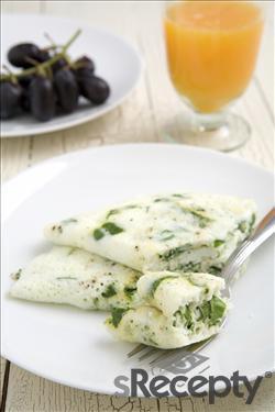 Omelette de espinaca, mozzarella y clara de huevo