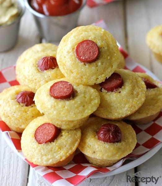 Muffins de maiz y salchicha