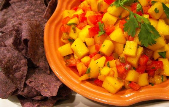 Dip de mango y menta