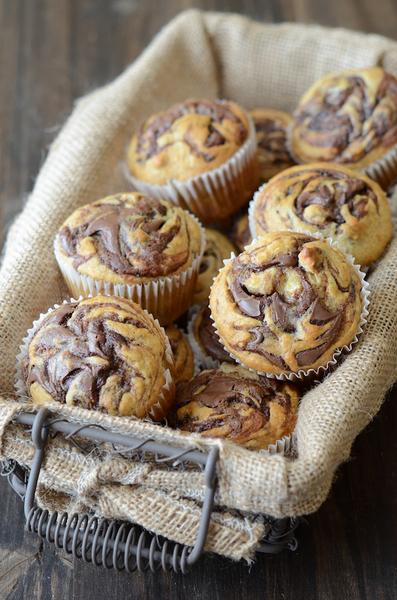 Muffins de nutella y bananas