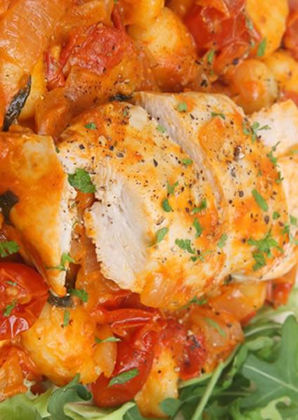 Cazuela italiana de pollo