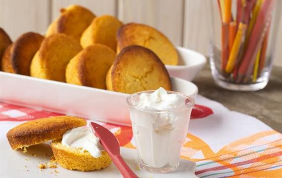 Pan de limón y harina de maíz