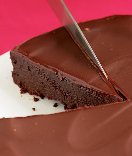 Torta de chocolate cubierta con chocolate