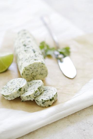 Crema untable de cilantro y lima