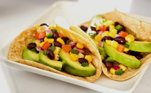 Tacos Con Aguacate Y Frijoles Negros Receta Srecetas Es