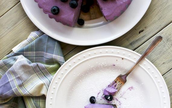 Cheesecake de arándanos sin cocción