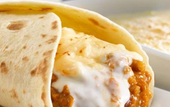 Burritos con berenjena y salsa chili