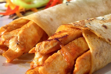 Burritos de cerdo