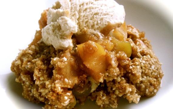 Postre de manzana y caramelo