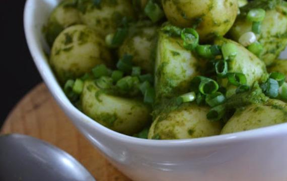 Ensalada de papas verde