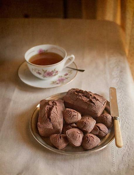 Mini puddings de chocolate