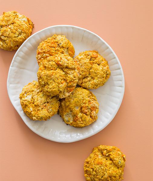 Cookies de batata y romero
