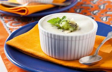 Mousse de yogurt y kiwi