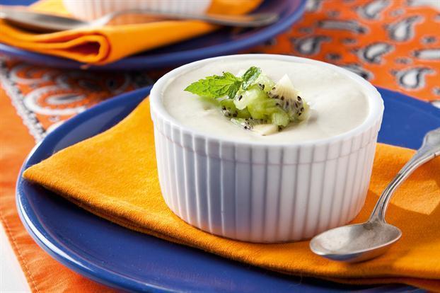 Mousse de yogurt y kiwi