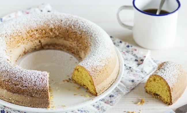 Torta de harina de maíz y aceite de oliva