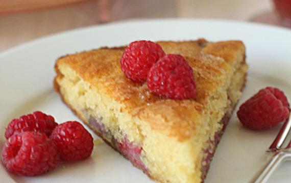 Torta de frambuesas para el té