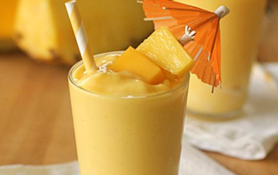 Smoothie de mango y ananá