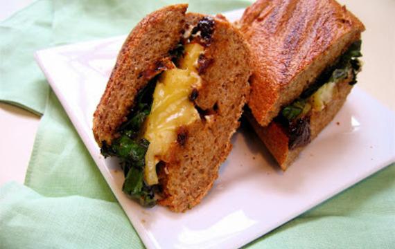 Sandwich de queso de cabra