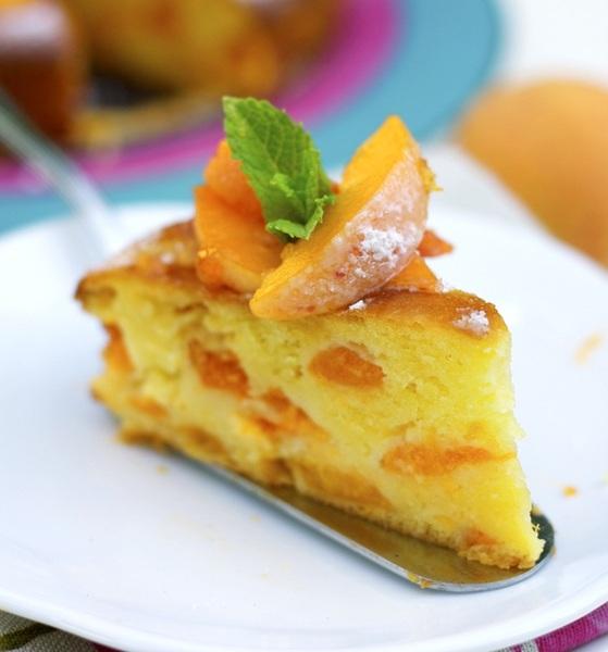 Torta de duraznos y mascarpone