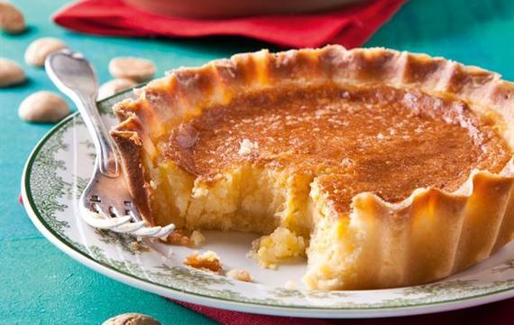 Crostata de crema de naranja