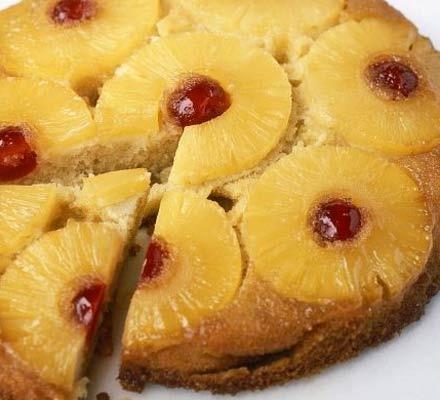 Torta invertida de ananá