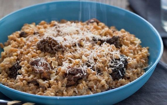 Risotto de arroz farro y hongos