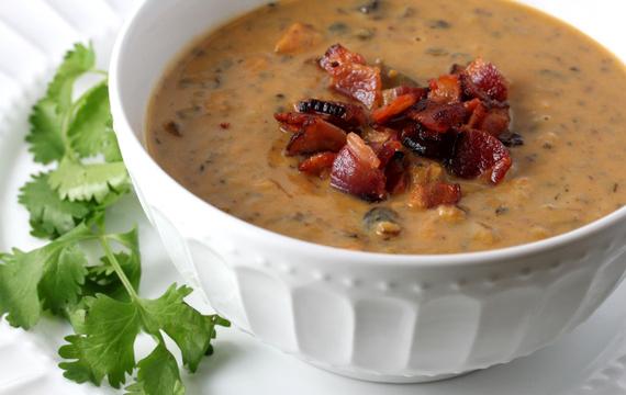 Sopa de batata y queso gouda