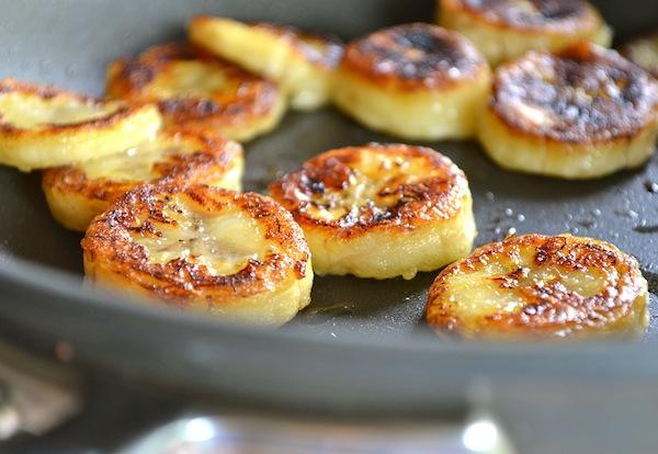 Bananas fritas a la miel