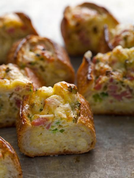 Barcos de huevo al horno