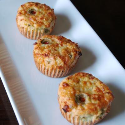 Mini quiche de alcachofas y aceitunas