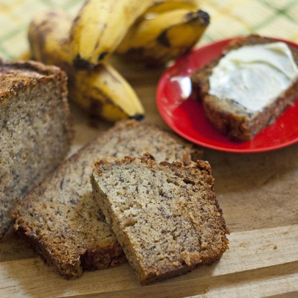 Pan azucarado de banana