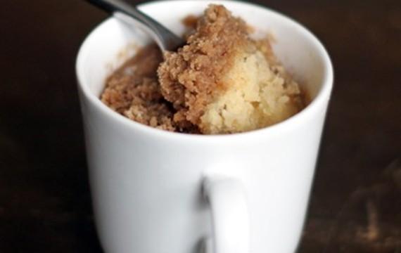 Torta de canela en taza