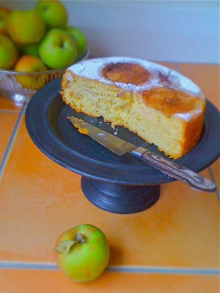 Torta de rodajas de manzana