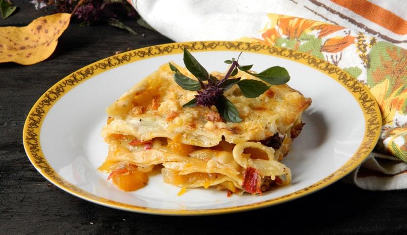 Lasagna con parmesano y calabaza