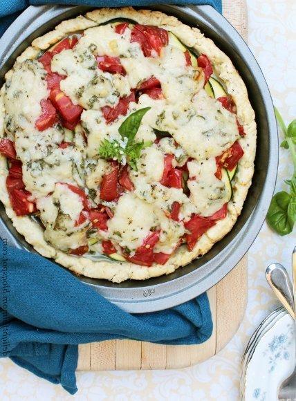 Tarta de tomate y zucchini