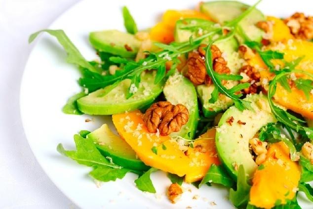 Ensalada de palta y mango