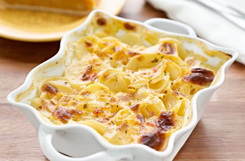 Pastel de papas gratinadas con queso