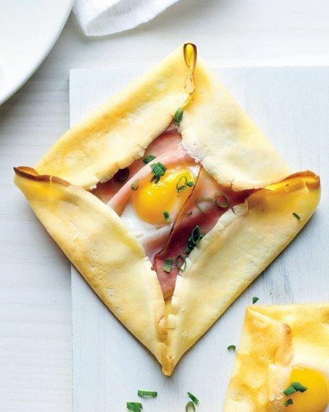 Crepe de jamón y huevo