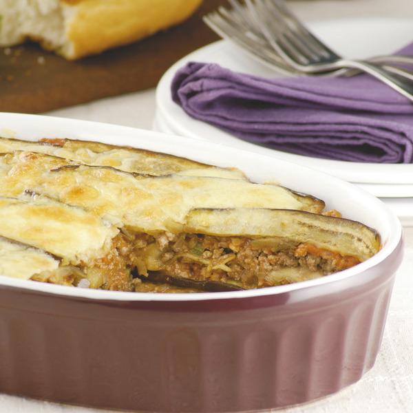 Lasagna de berenjenas y carne picada