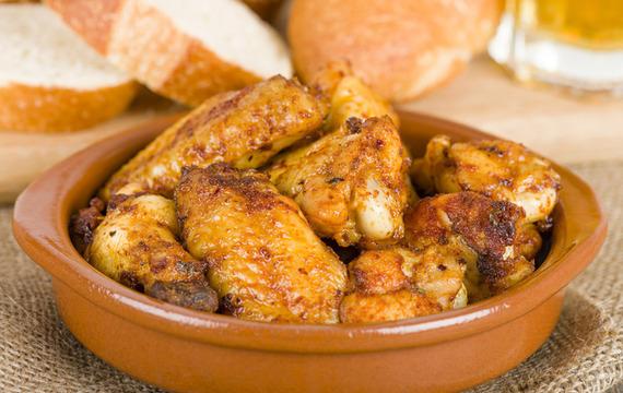 Alitas de pollo al ajo