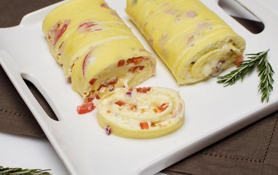 Rollo de tortilla al horno