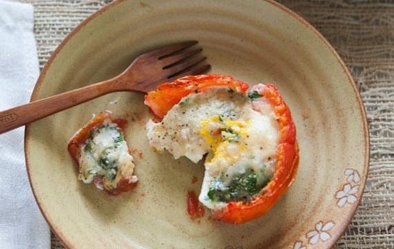 Tomatitos rellenos al horno