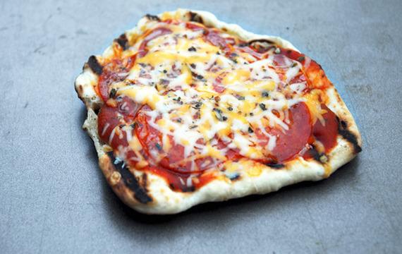 Pizza en sandwichera