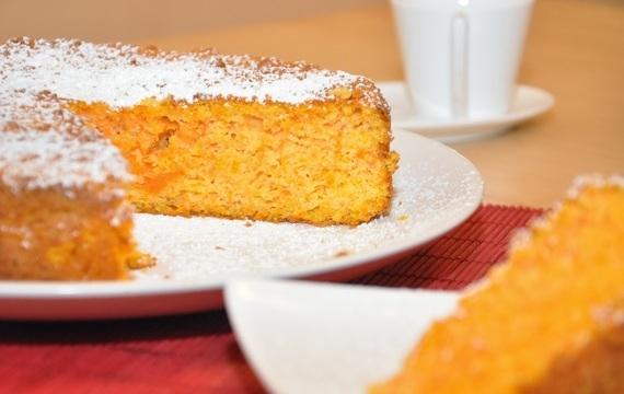 Torta de zanahoria y almendras