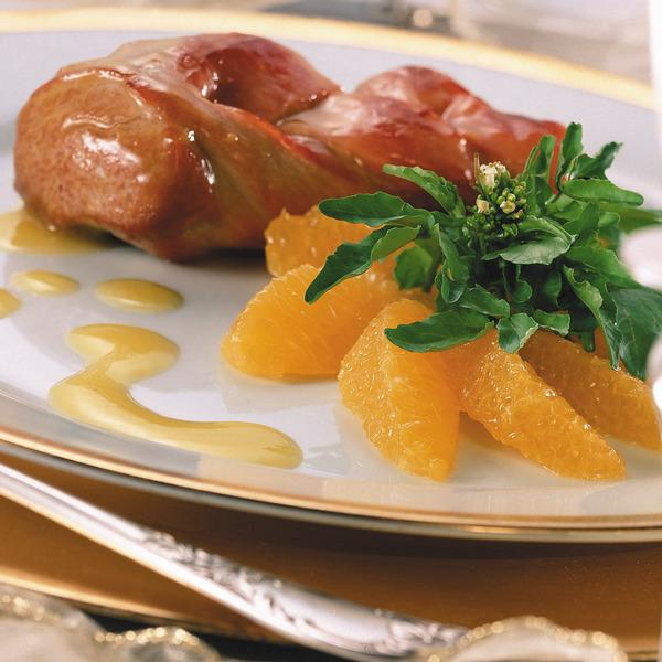 Lomito de cerdo con salsa de cítricos