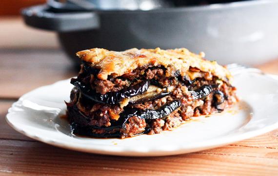 Moussaka de berenjenas y carne picada