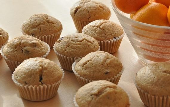 Muffins de arándano y mandarina